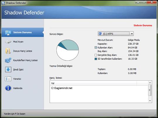 Shadow Defender 1.4 Full Türkçe İndir