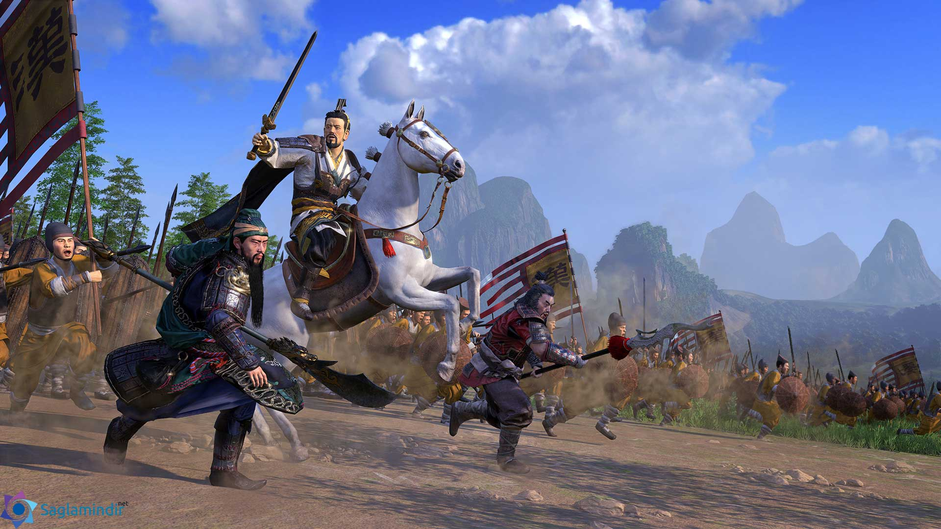 total war three kingdoms full indir