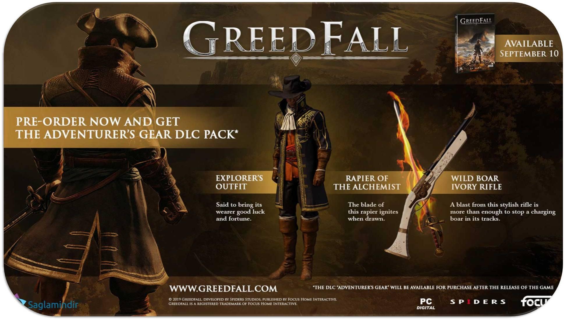 GreedFall saglamindir