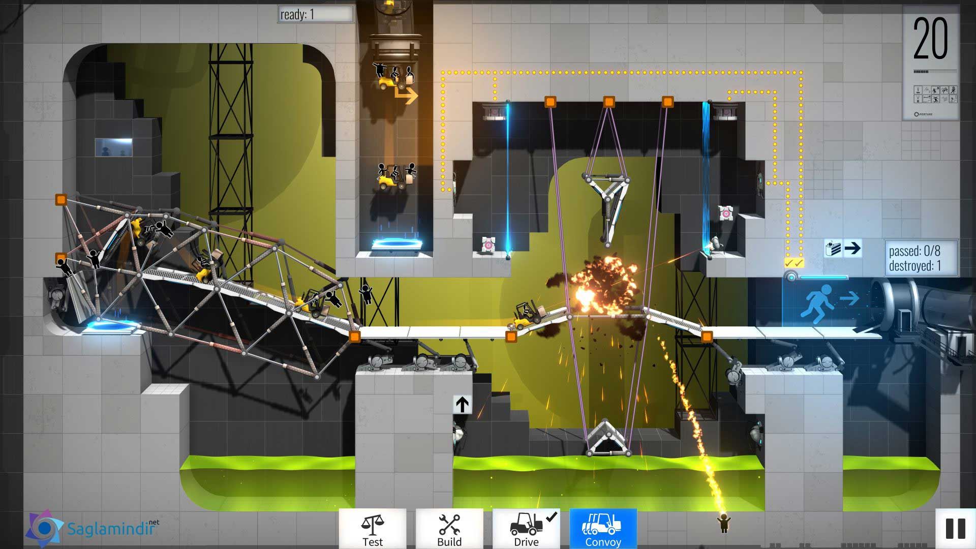 Bridge Constructor Portal torrent indir