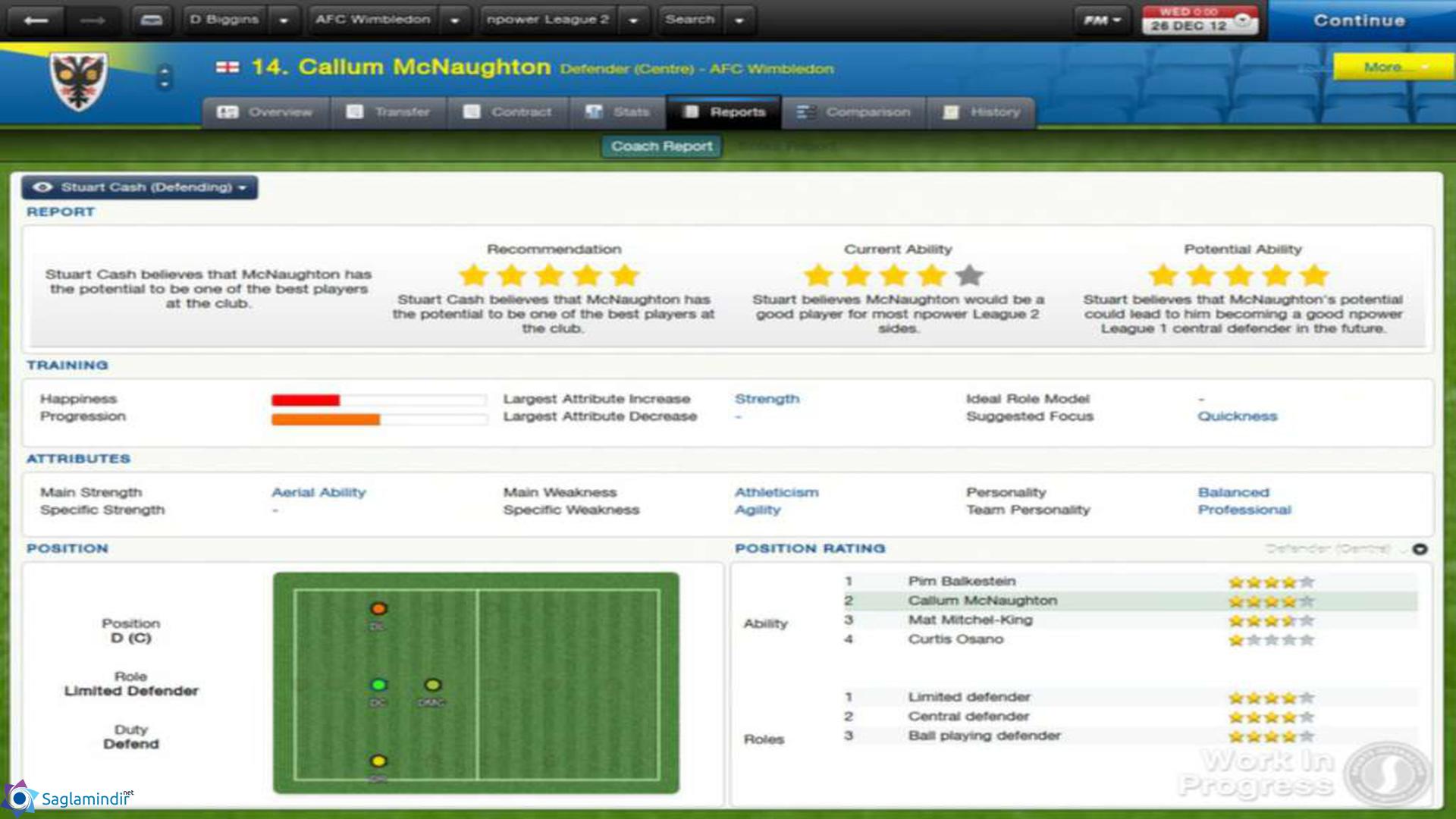 Football Manager 2013 saglamindir
