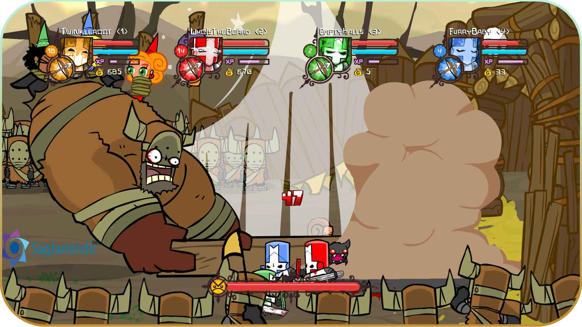 Castle Crashers saglamindir