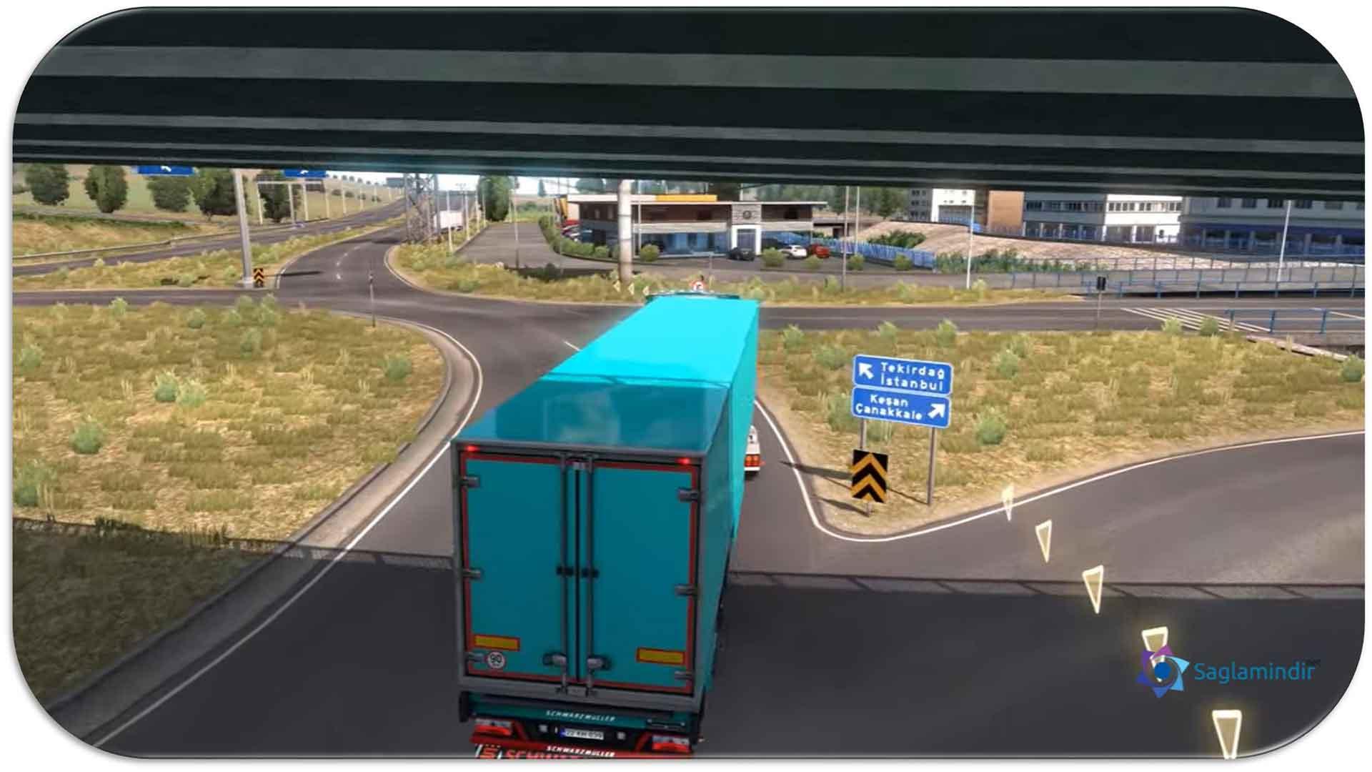 euro truck simulator 2 road to black sea türkçe navigasyon