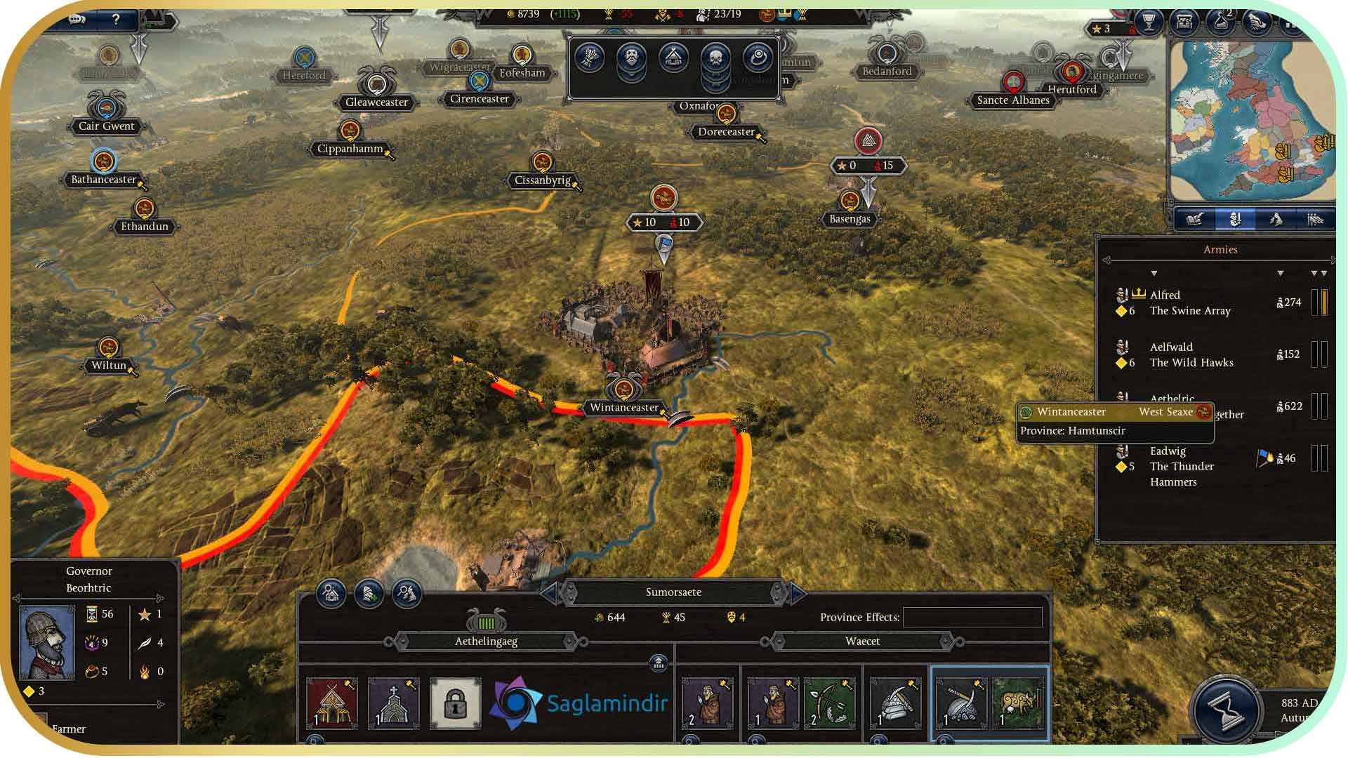 Total War Saga Thrones of Britannia torrent indir