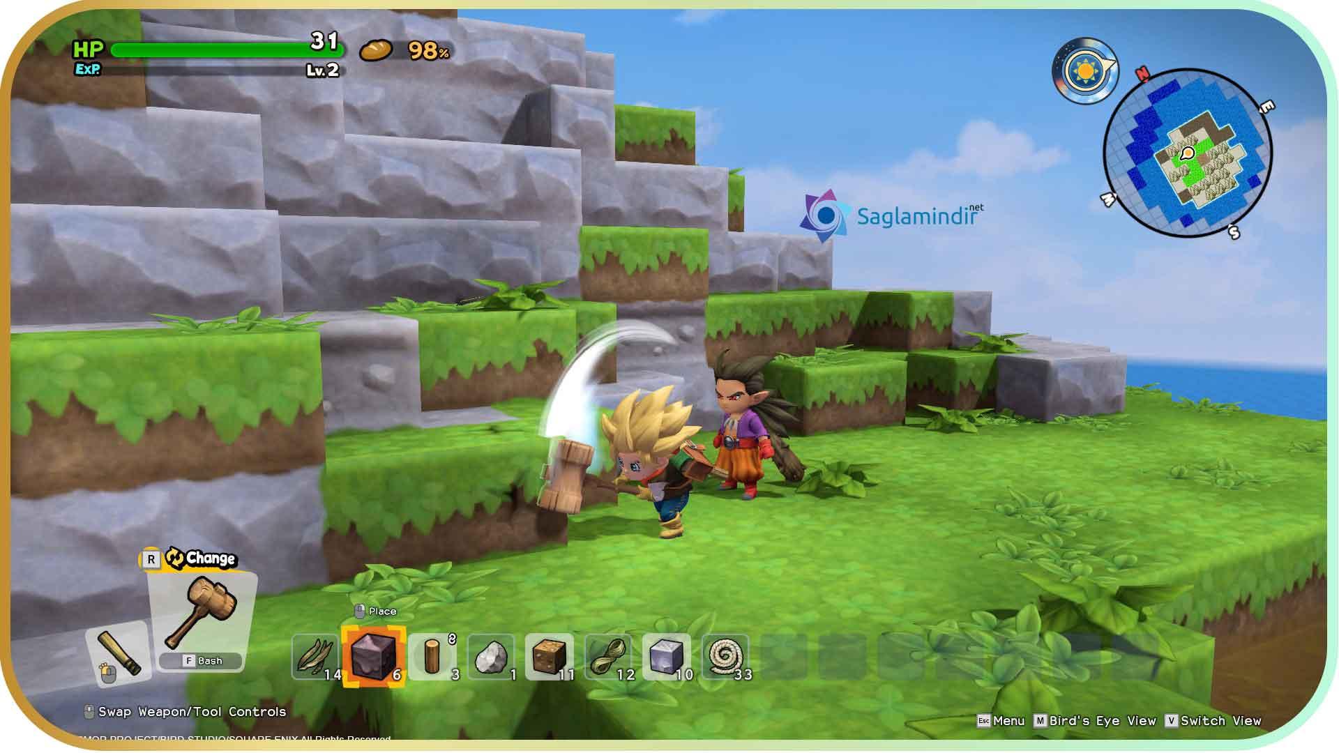 Dragon Quest Builders 2 saglamindir
