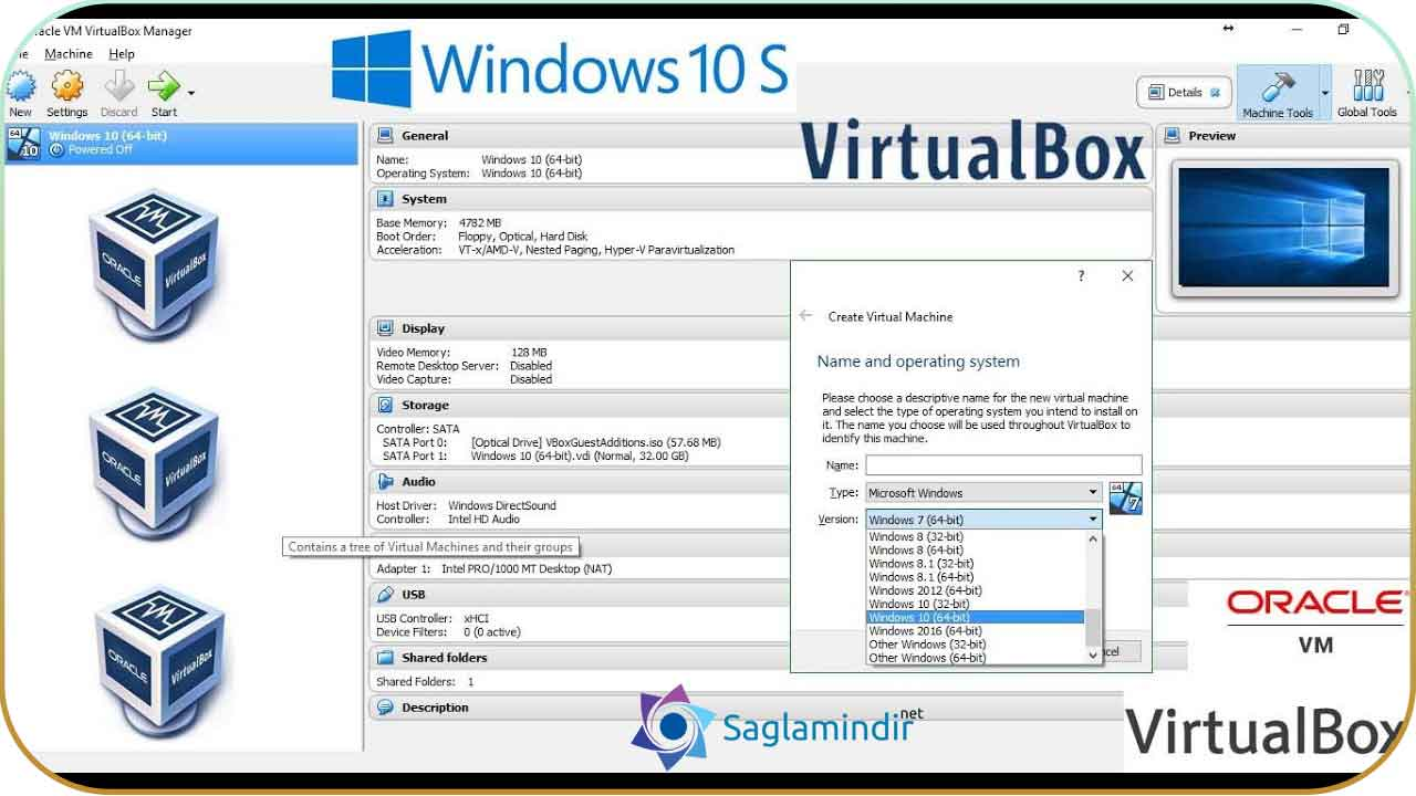 VirtualBox full indir